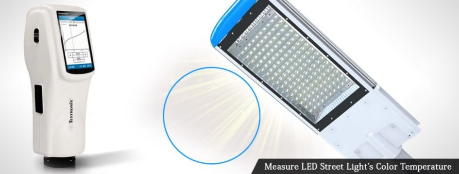 Measure LED Street Light's Color Temperature with Portable